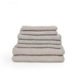 bath towel linen waffle FLAX
