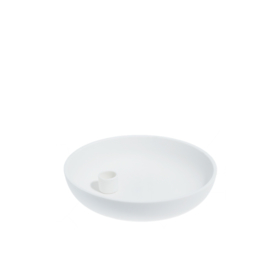 candle holder PURE WHITE large