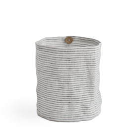 windlicht linnen PINSTRIPE charcoal