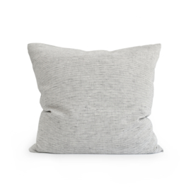 linen pillow case PINSTRIPE charcoal