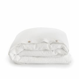 linen duvet cover set PURE WHITE