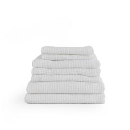linnen wafel badhanddoek WHITE