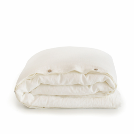 linen duvet cover set MILK
