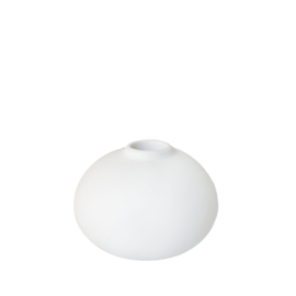 candle holder round PURE WHITE