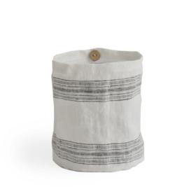 windlicht linnen LINES charcoal