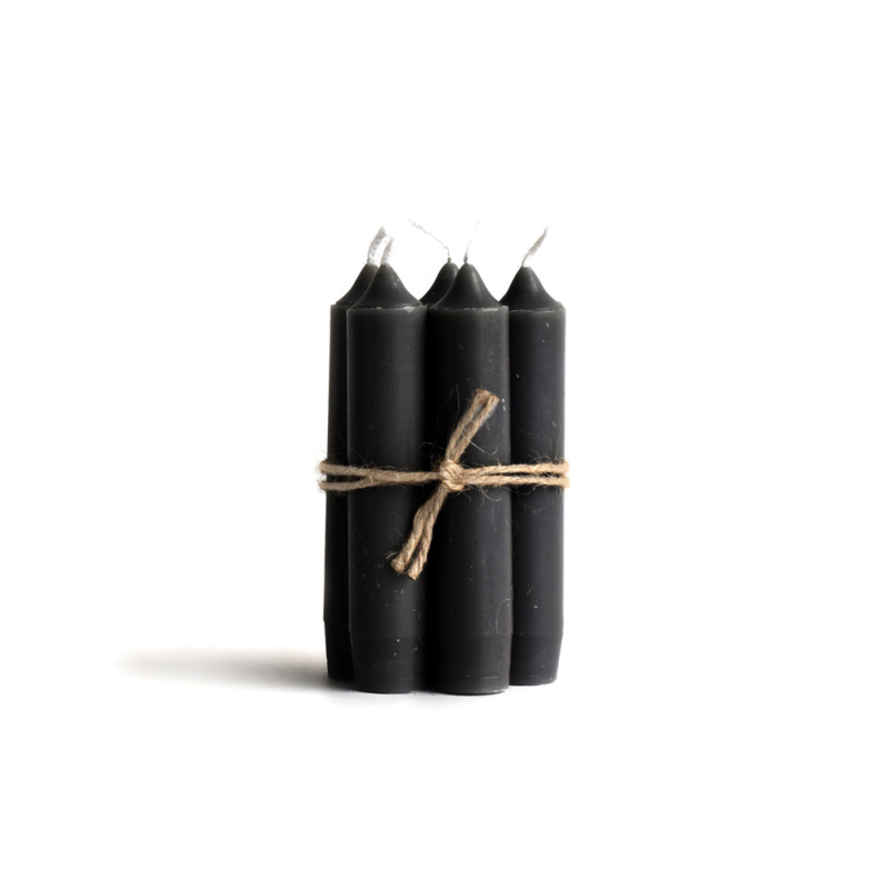 short dinner candle OFF BLACK