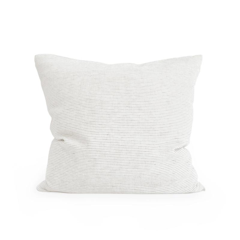 linen pillow case PINSTRIPE flax