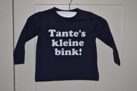"""Shirtje """" tante's kleine bink"""""""