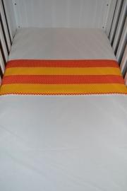 Ledikant Laken Oranje Geel Stip