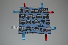 Labeldoekje auto blauw