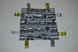 Labeldoekje auto grijs