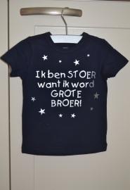 Shirtje stoer met sterren