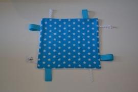 Labeldoekje Blauw met Witte Sterren