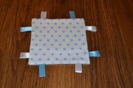Labeldoekje Wit-Blauw Ster