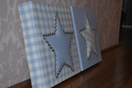 3D Bord Zacht Blauw 20x20