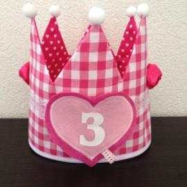 Verjaardagskroon pink