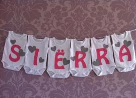 Geboorte romperlijn Siërra (6 rompers)