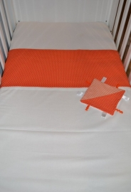 Ledikant Laken Oranje Stip