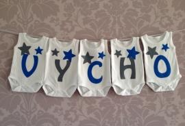 Geboorte romperlijn Vycho (5 rompers)