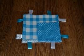 Labeldoekje Blauw-Wit Patch