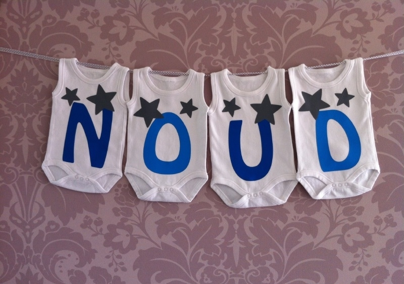 Geboorte romperlijn Noud (4 rompers)
