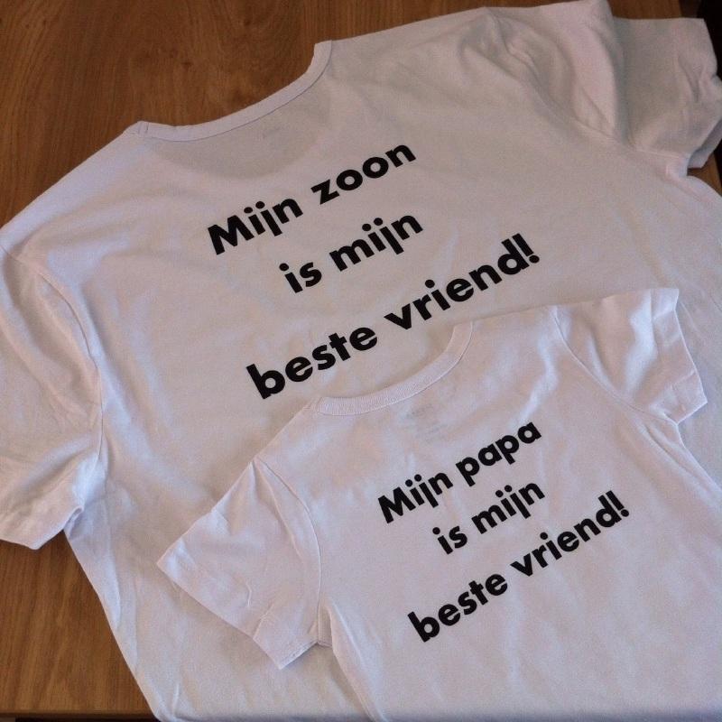 Papa en zoon t-shirts