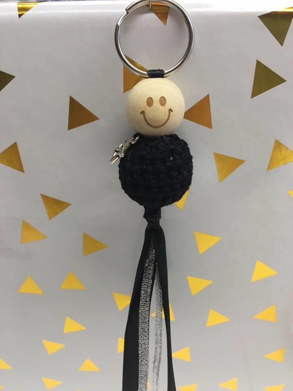 sleutelhanger met zwart buikje zonder bedel
