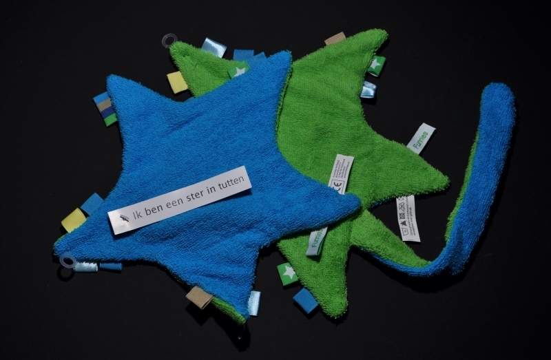 Speendoekje blauw/groen