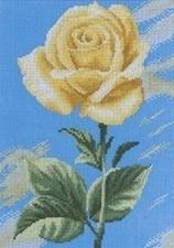 Gele Roos op Blauw - Yellow Rose on Blue
