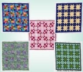 Pine Glenn - Scrappy Stars - Quilts in Cross Stitch 3