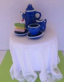 Miniatuur Gedekte Tafel - Blauw - Miniature set Table - Blue