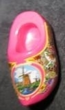 Klomp met molen - roze - Wooden shoe with windmill - pink