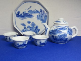 Miniature  Delft Blue Tea Set - 4