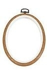 Flexi hoop - oval - wood grain - 14 x 10 cm