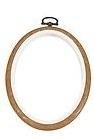 Flexi hoop, ovaal - hout kleur - 14 x 10 cm - Oval flexi hoop - wood grain