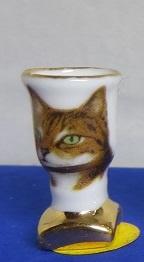 Miniatuur Vaas met gouden voet - 08 - Miniature Vase with Golden base
