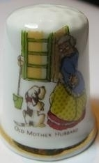 Vingerhoed - 018 - porselein - oma - Thimble - bone china - grandma