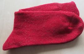 Sokken maat 40-41- rood met goud - Socks - size 40-41 - red and gold