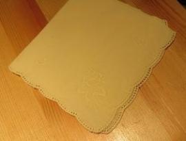 Zakdoek vierkant licht geel - Handkerchief sq light yellow