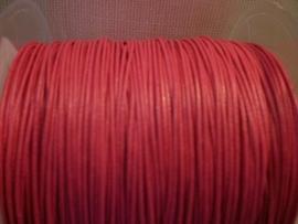 Wasdraad roze - 1 mm - Wax cord - pink - 5 meter