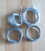 Bead stringing wire, 2 meter, silver