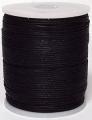 Wasdraad zwart - 1 mm - Wax cord - black - 5 meter