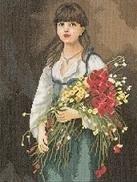 Alexei Harlamhoff - Bloemen Meisje - Flowergirl - aida