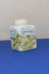 Miniature square Vase with top - 08