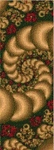 Cross Stitch Collectibles - Fractal 101 - Bookmark