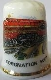Vingerhoed - 035 - porselein - trein - Coronation Scot - Thimble - bone china - train