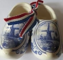 Delfts blauwe klompen - groot - Delft blue shoes - large