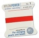 Bead cord - no. 3 -  0.50 mm - red - nylon power