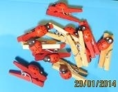 Clothes-pegs mini with ladybugs, 10 pcs