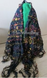 Silk Shawl, wrap - triangle